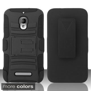 BasAcc Holster Clip Dual Layer Hybrid Case Cover for Alcatel One Touch Fierce