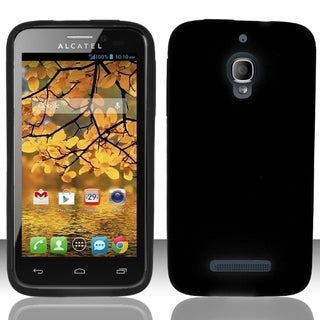 INSTEN Soft Silicone Skin Phone Case Cover for Alcatel One Touch Fierce 7024T