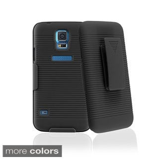 BasAcc Holster Belt Clip Dual Layer Hybrid Case Cover for Samsung Galaxy S5/ SV