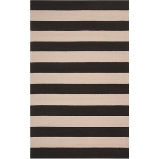 Hand-hooked Mandy Striped Casual Indoor/ Outdoor Area Rug (8' x 10')