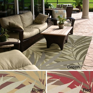 Hand-hooked Lily Transitional Floral Indoor/ Outdoor Area Rug (8' x 10')