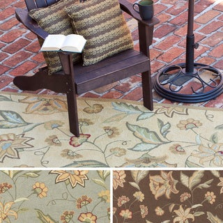 Hand-hooked Shannon Transitional Floral Indoor/ Outdoor Area Rug (8' x 10')
