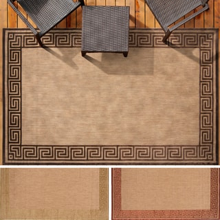 Meticulously Woven Megan Transitional Bordered Indoor/ Outdoor Area Rug (7'10 x 10'8)