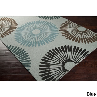 Hand-hooked Gretchen Contemporary Geometric Indoor/ Outdoor Area Rug (9' x 12')