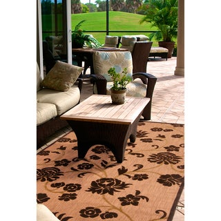 Meticulously Woven Patricia Transitional Floral Indoor/ Outdoor Area Rug (4'7 x 6'7)