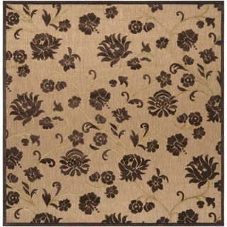 Meticulously Woven Patricia Transitional Floral Indoor/ Outdoor Area Rug (7'6 x 7'6)