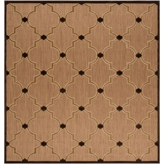 Meticulously Woven Aubrey Transitional Geometric Indoor/ Outdoor Area Rug (7'6 x 7'6)