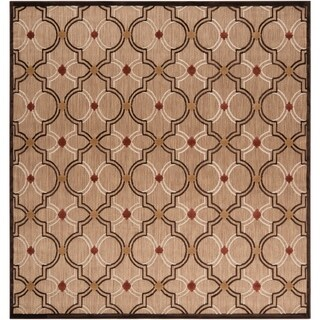 Meticulously Woven Jewel Transitional Geometric Indoor/ Outdoor Area Rug (7'6 x 7'6)