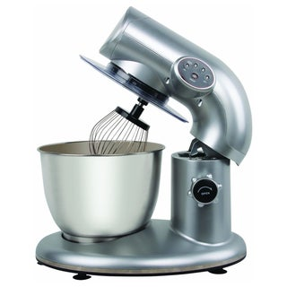 Knox Metallic Silver 650-Watt Stand Mixer with 6-Quart Capacity