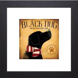 Stephen Fowler 'Black Dog Mistletoe' Framed Art Print