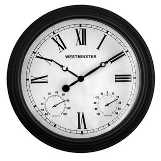Coventry Clock with Dual Thermometer
