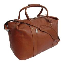 Piel Leather Saddle European 20-inch Carry On Tote Bag