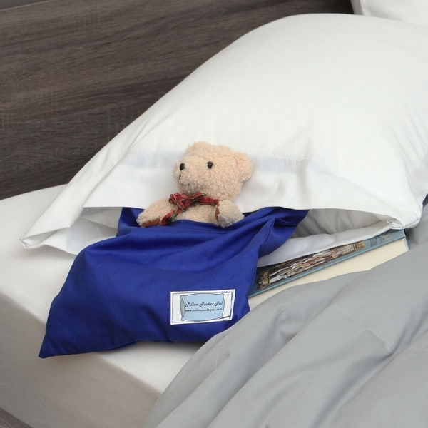 Pillowcase with Blue Pocket