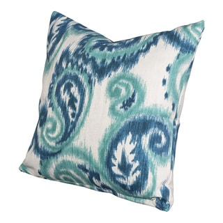 Tonga Sea Paisley Decorative Throw Pillow