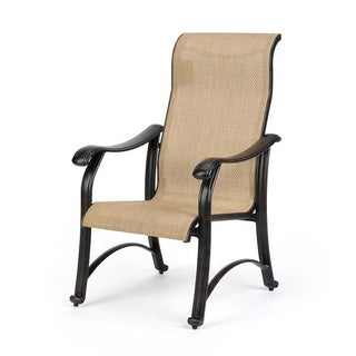 Venice Desert Bronze Weather-resistant Dining Arm Chairs (Set of 2)