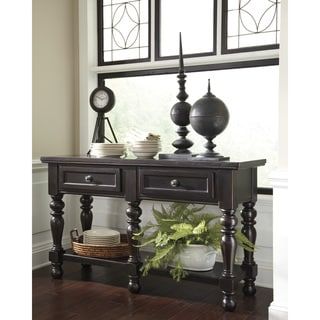 signature design by ashley harlstern black dining room buffet