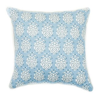 18 x 18-inch Smokey Blue Pineapple-print Throw Pillow