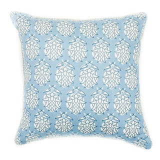 18 x 18-inch Smokey Blue Pineapple-print Throw Pillow