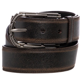 Prada Vintage Brown Saffiano Leather Belt