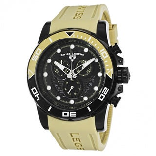 Swiss Legend Men's 'Avalanche' Khaki/ Black Silicone Watch