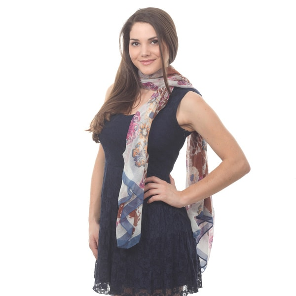 Butterfly Pattern Lightweight Scarf
