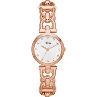Fossil Women's ES3350 Olive Analog Rose Goldplated Watch