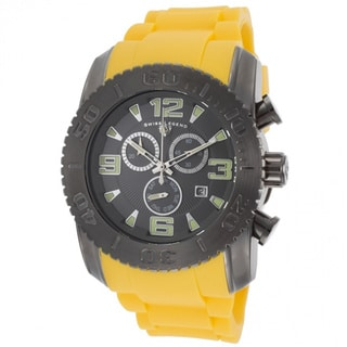 Swiss Legend Men's 'Commander' Yellow/ Gunmetal Watch