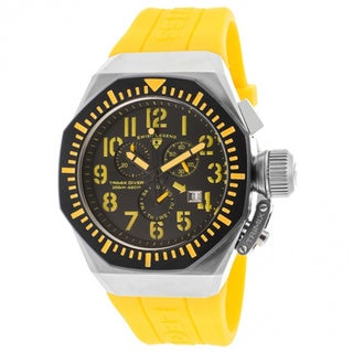 Swiss Legend Men's 'Trimix' Yellow Silicone Watch