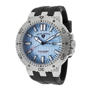 Swiss Legend Men's 'Challenger' Light Blue Silicone Watch