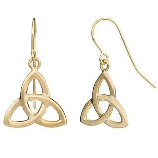 Fremada 10k Yellow Gold Celtic Knot Drop Earrings
