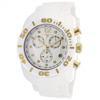 Swiss Legend Men's 'Commander' White Diamond Watch