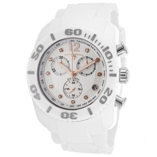 Swiss Legend Men's White Silicone Diamond Watch