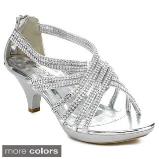 Delicacy Women's Rhinestone Embellished Strappy Heels