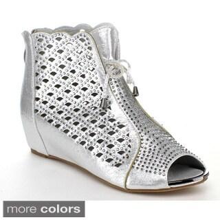 Forever Women's Peep Toe Sandals Booties