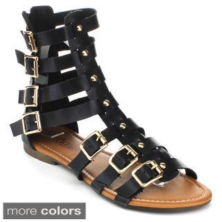 Cherish Women's MIANA-1 Strappy Gladiator Sandals