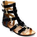 DBDK Women's Elisa-1 Strappy Ankle Gladiator Sandals