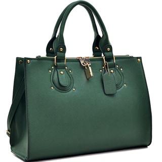 Dasein Locking Magnetic Snap Satchel Briefcase Handbag