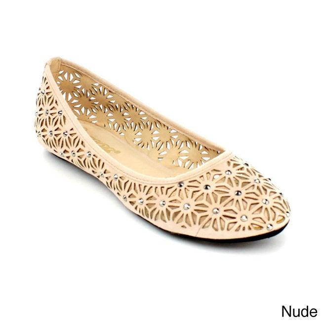 Overstock.com DBDK Women's Azura-1 Rhinestone Slip-on Ballet Flats at Sears.com