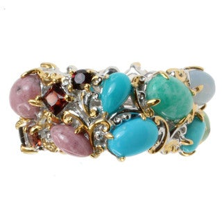 "Michael Valitutti Two-tone ""American-mined"" Multi-gemstone Ring"