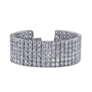 14k White Gold 42ct TDW Pave Diamond Tennis Bracelet (F-G, SI2-SI3)
