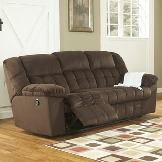 Signature Designs by Ashley Lowell Chocolate Reclining Sofa