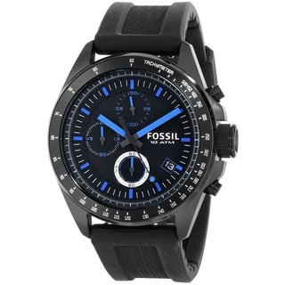 Fossil Men's CH2897 Decker Black and Blue Chronograph Watch