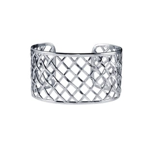 Handcrafted Sterling Silver Bali Weave Cuff Bracelet (Indonesia)