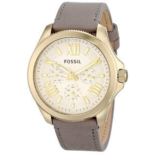 Fossil Women's AM4529 'Cecile' Grey Leather Watch