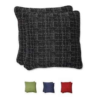 Pillow Perfect 18.5-inch Throw Pillow with Bella-Dura Conran Fabric (Set of 2)
