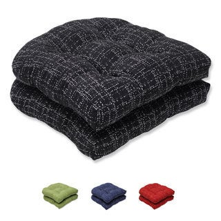 Pillow Perfect Wicker Seat Cushion with Bella-Dura Conran Fabric (Set of 2)