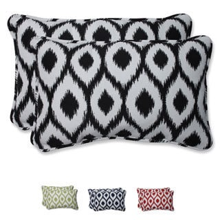 Pillow Perfect Rectangular Throw Pillow with Bella-Dura Shivali Fabric (Set of 2)
