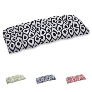 Pillow Perfect Wicker Loveseat Cushion with Bella-Dura Shivali Fabric
