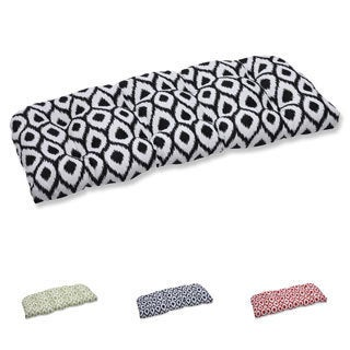 Pillow Perfect Wicker Loveseat Cushion with Bella-Dura Shivali Fabric