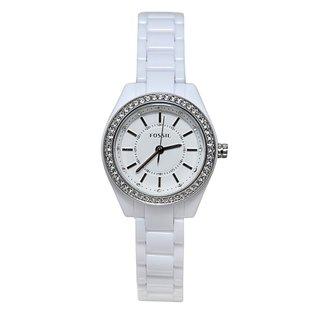 Fossil Women's BQ1199 White Glitz Watch
